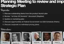 screenshot of a meeting page